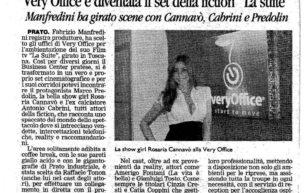 14 maggio 2009 – Il Tirreno – Ciak si gira a Very Office
