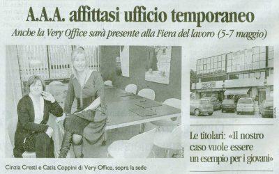20 aprile 2011 – Il Tirreno – A.A.A. Affittasi Ufficio Temporaneo